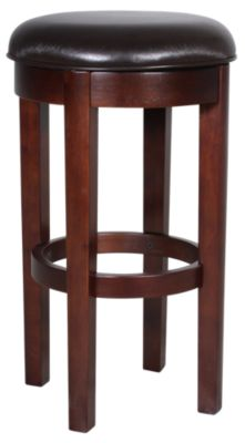 A America Parsons Brown Swivel Barstool