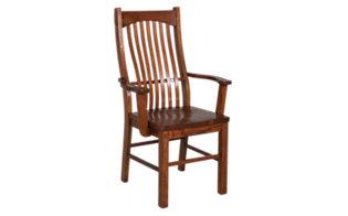 A America Laurelhurst Solid Oak Mission Arm Chair