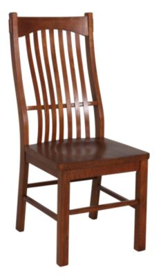 A America Laurelhurst Solid Oak Mission Side Chair