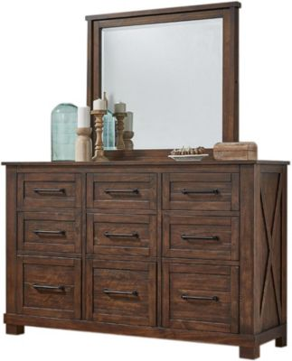 A America Sun Valley Dresser with Mirror
