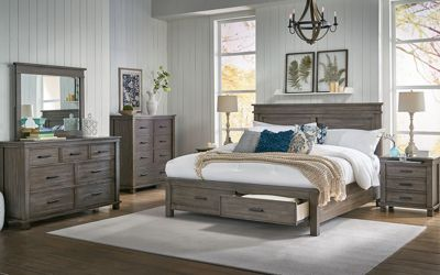 A America Glacier Point King Storage Bedroom Set