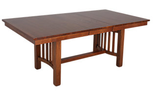 A America Laurelhurst Solid Oak Mission Dining Table
