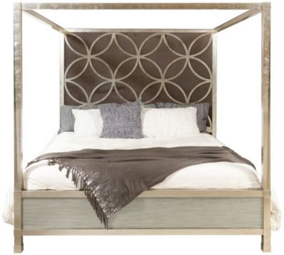 Accentrics Home City Chic Queen Canopy Bed