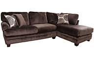 Albany Industries 8642 Chocolate Right-Side Chaise 2-Piece Sectional