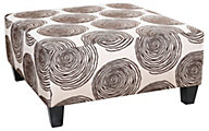 Albany Industries 8642 Chocolate Cocktail Ottoman