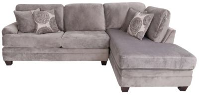 Albany Industries 8642 Gray Right-Side Chaise 2-Piece Sectional