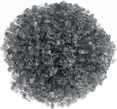 American Fireglass Gray 10 lb Fire Pit Glass