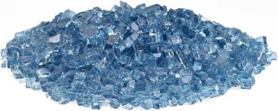 American Fireglass Calo Firepit Glass Pacific Blue Glass 10 Lb Jar