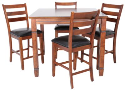 American Heritage Rosa Counter Game Table & 4 Chairs