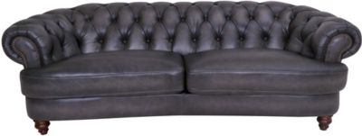 Amax Leather Nottingham 100% Leather Chesterfield Sofa