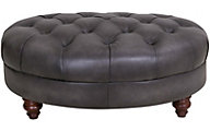 Amax Leather Nottingham 100% Leather Ottoman