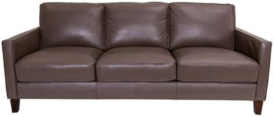 Amax Leather New Haven 100% Leather Taupe Sofa