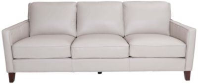 Amax Leather New Haven 100% Leather Gray Sofa