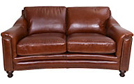 Amax Leather Billingham 100% Leather Loveseat