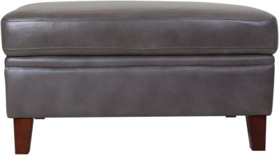 Amax Leather Rockville 100% Leather Ottoman with Table