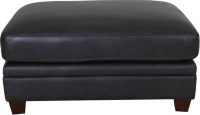 Amax Leather Como Leather Ottoman