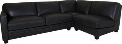 Amax Leather Como 3-Piece 100% Leather Sectional
