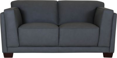 Amax Leather Plaza 100% Leather Loveseat