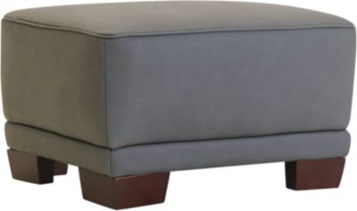 Amax Leather Plaza 100% Leather Ottoman