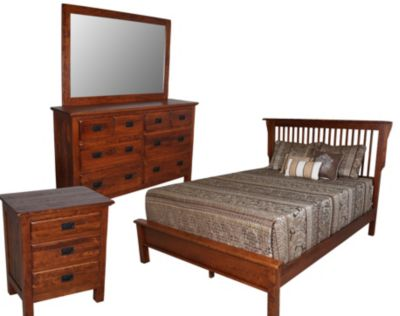 Daniel's Amish Lewiston Queen Mission Bedroom Set
