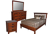 Daniel's Amish Lewiston 4-Piece Queen Mission Bedroom Set