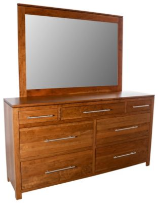 Daniel's Amish Bedfort Dresser with Mirror