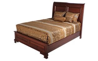 Daniel's Amish Classic King Sleigh Bed