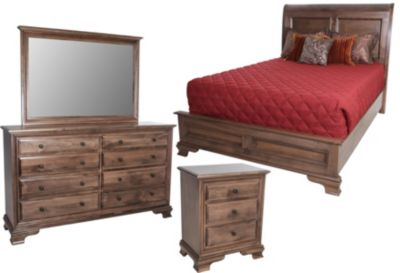 Danielu0027s Amish Classic 4 Piece King Bedroom Set