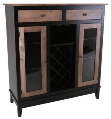 Daniel's Amish Westchester Wine Cabinet With Wine Rack