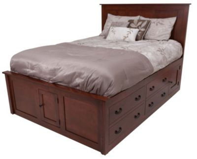 Daniel's Amish Treasures Queen Storage Bed