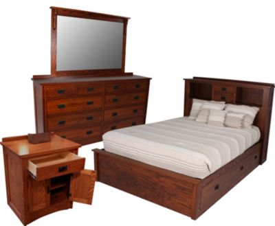 Danielu0027s Amish New Mission 4 Piece King Bedroom Set