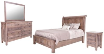 Danielu0027s Amish Lewiston 4 Piece King Sleigh Bedroom Set