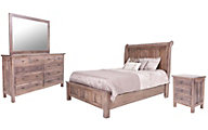 Daniel's Amish Lewiston 4-Piece King Sleigh Bedroom Set