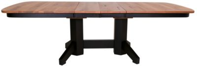 Daniel's Amish Two-Tone Double Pedestal Table