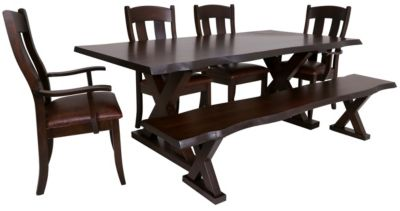 Daniel's Amish Live Edge Dining Set