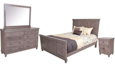 Daniel's Amish Cottage 4-Piece Queen Bedroom Set
