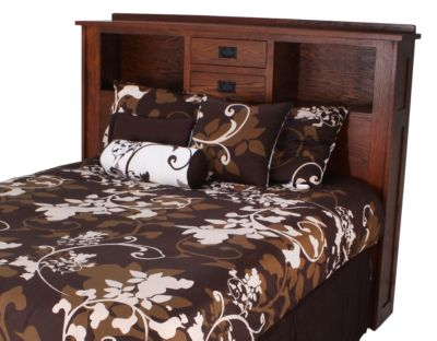 Daniel's Amish New Mission Queen Headboard