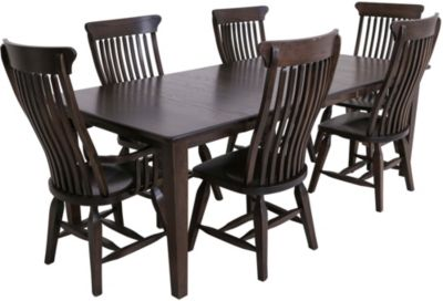 Daniel's Amish Solid Oak 7-Piece Dining Set