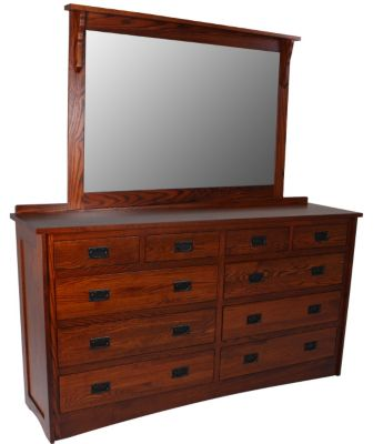 Daniel's Amish New Mission Dresser with Mirror
