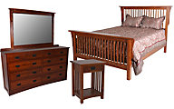 Daniel's Amish New Mission 4-Piece Queen Bedroom Set