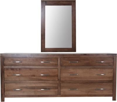 Daniel's Amish Modern Dresser with Mirror