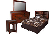 Daniel's Amish New Mission Queen Headboard/Dresser/Mirror/Nightst