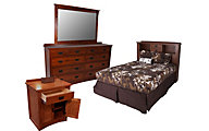 Daniel's Amish New Mission 4-Piece King Headboard Bedroom Set