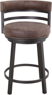 Armen Living Madrid Swivel Counter Stool