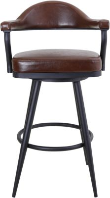 Armen Living Justin Swivel Counter Stool