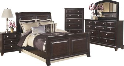 Ashley Ridgley 4 Piece King Sleigh Bedroom Set