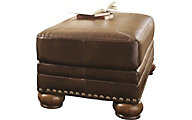 Ashley Chaling Bonded Leather Ottoman
