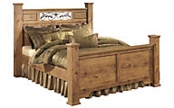 Ashley B219 Collection King Poster Bed