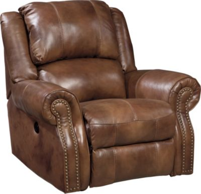 Ashley Walworth Leather Rocker Recliner