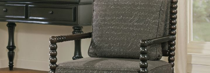 leather, upholstered and patterned accent chairs